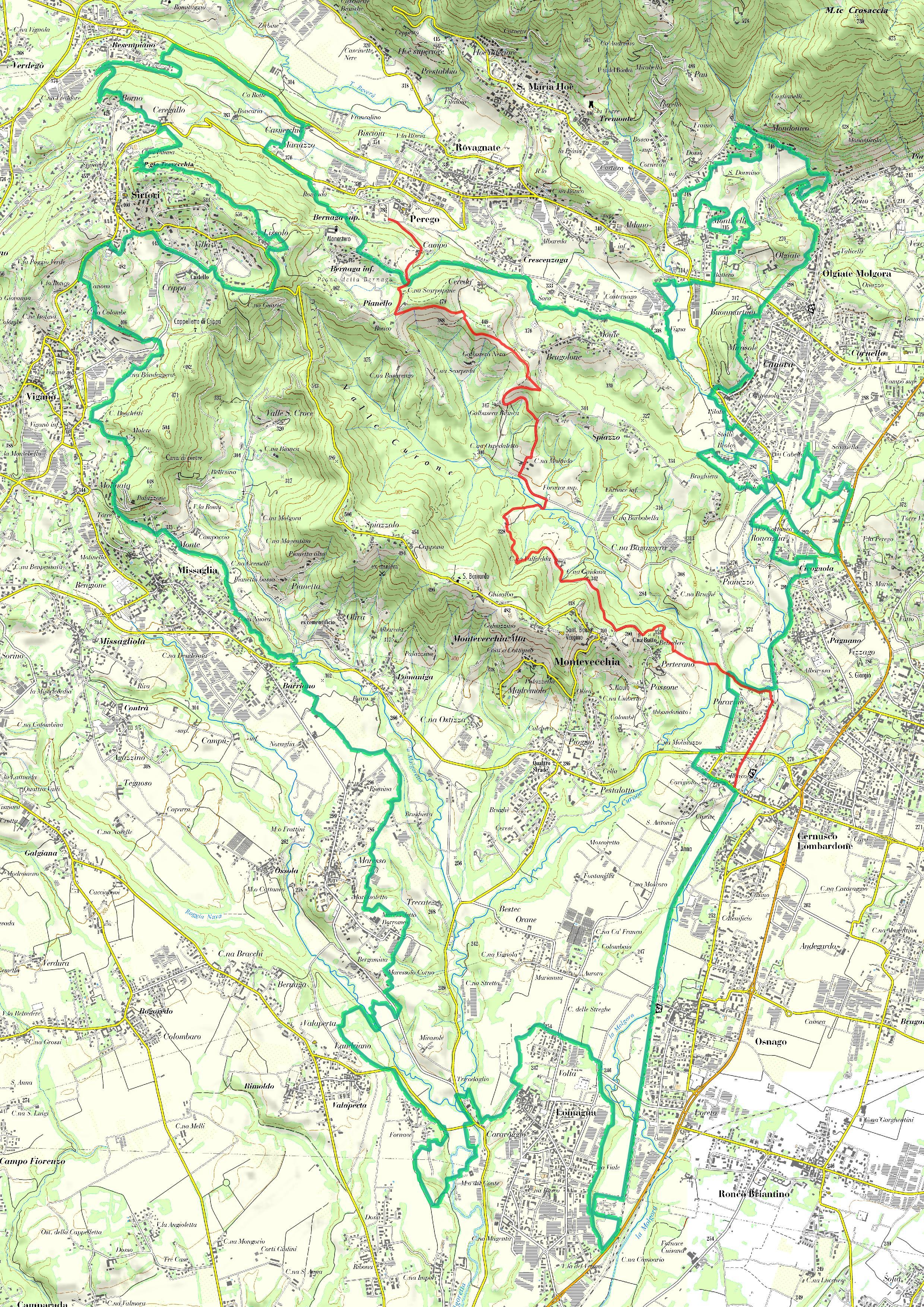 Parco di montevecchia fruizione sentieri sentiero for Perego arredamenti cernusco